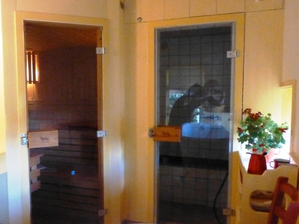 Deuren naar sauna en stoombad
